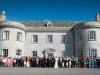 Group photo outside front of Smedmore House
