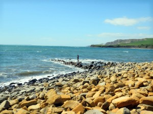 Gormley Statue on Kimmeridge Beach