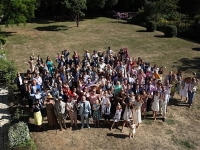 Group shot from the roof of Smedmore House