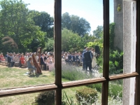 Ceremony seen from the House