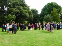 Wedding party in Main Garden