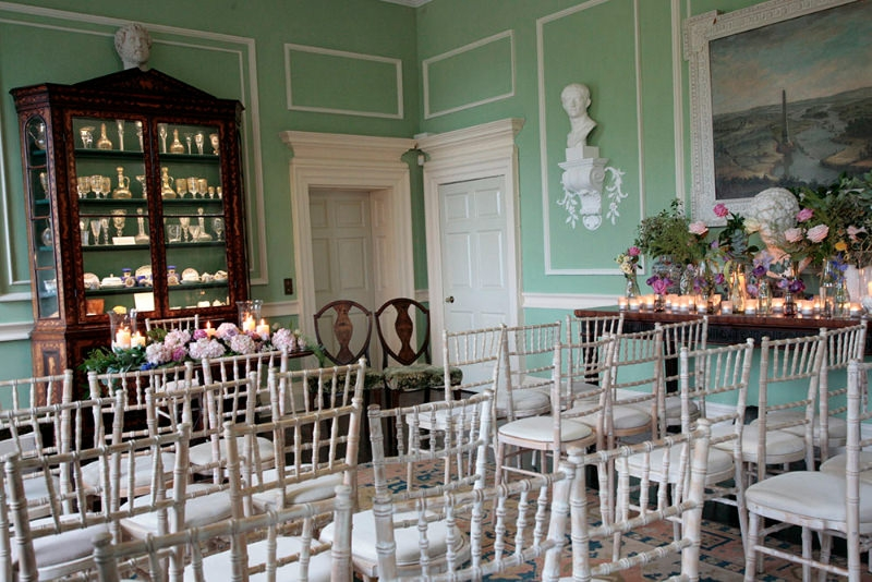 Smedmore House wedding and events venue in Dorset inside ceremony